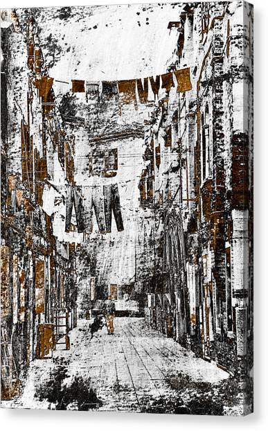Old Houses Canvas Print - Verona Italy by Frank Tschakert