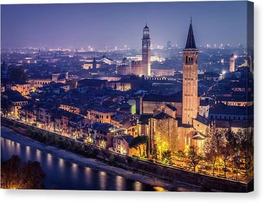 Early Middle Ages Canvas Print - Verona. by Pablo Lopez