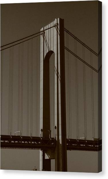 Verrazano Black And White Canvas Print