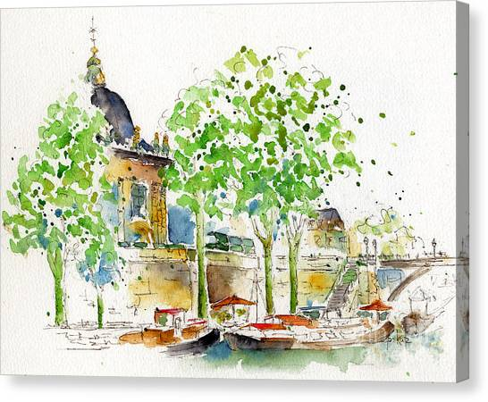Vers Pont Des Artes Canvas Print