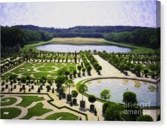 Versailles Digital Paint Canvas Print