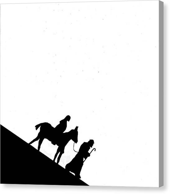 Donkeys Canvas Print - Version 1 #joseph #mary #donkey by Kidface Anbessa-Ebanks