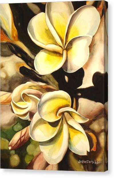 Verticle Plumeria Canvas Print