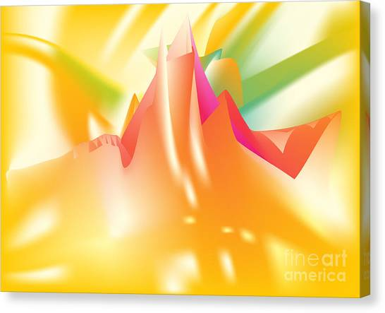 Canvas Print featuring the digital art Vertigo - Abstract Art Print On Canvas - Digital Art - Fine Art Print - Landscape Print - Decorative by Ron Labryzz