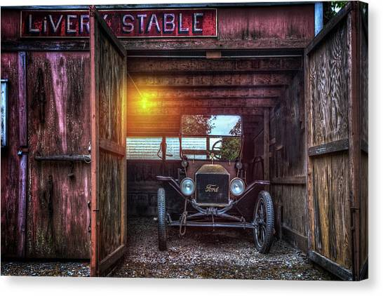 1932 Ford Canvas Print - Very Old Ford by Debra and Dave Vanderlaan