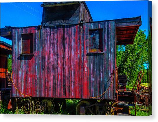 Caboose Canvas Print - Very Old Worn Caboose by Garry Gay
