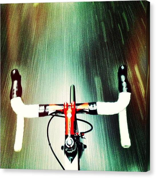 Wet Canvas Print - Very Wet Commute This Morning by Ryan Jordan