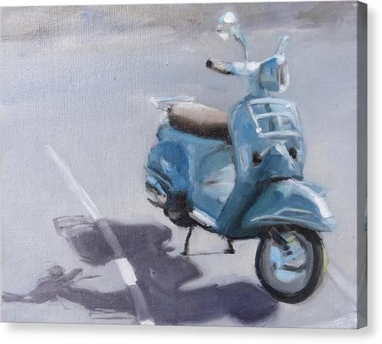 Vespa Shadows Canvas Print