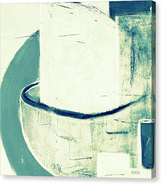 Canvas Print featuring the painting Vessels 6  by VIVA Anderson