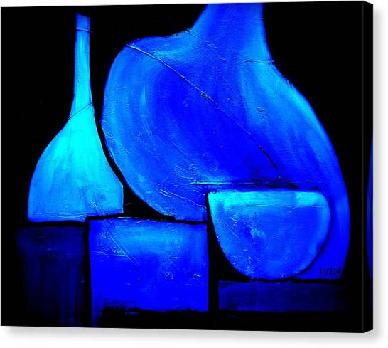 Vessels Blue Canvas Print