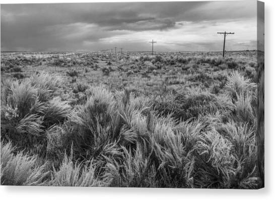 Petrified Forest Canvas Print - Vestige Of Route 66 by Joseph Smith