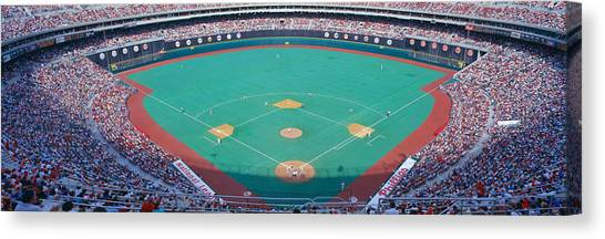 Pitching Canvas Print - Veteran Stadium, Phyllis V. Astros by Panoramic Images