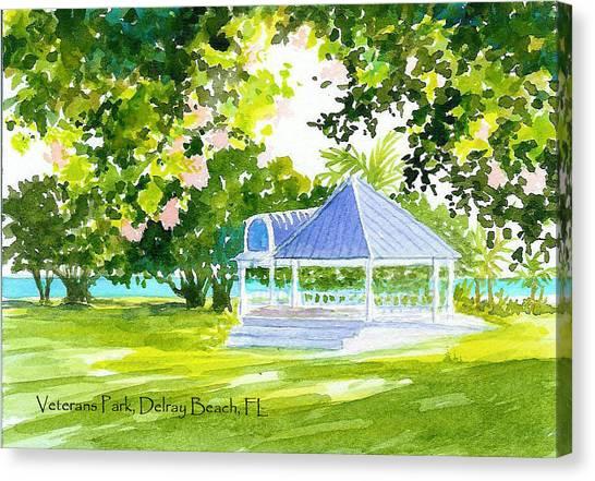 Veterans Park Gazebo Canvas Print