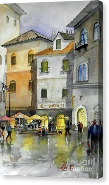 via Corso Canvas Print