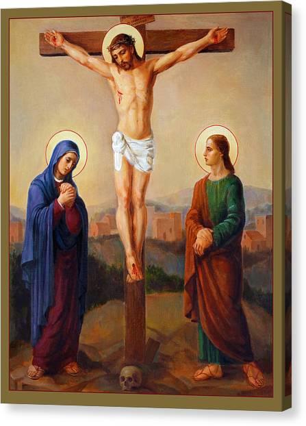 Orthodox Art Canvas Print - Via Dolorosa - Crucifixion - 12 by Svitozar Nenyuk