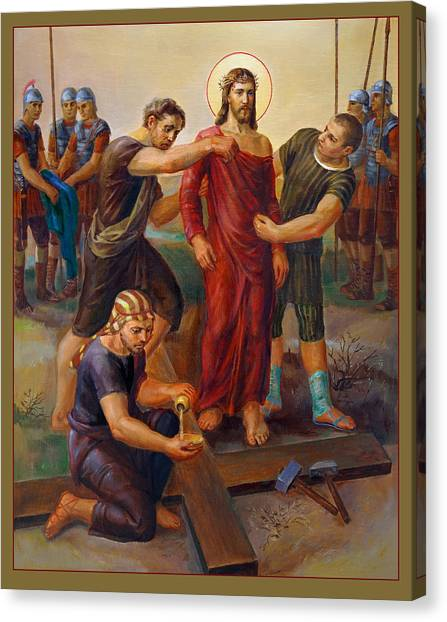 Biblical Canvas Print - Via Dolorosa - Disrobing Of Christ - 10 by Svitozar Nenyuk