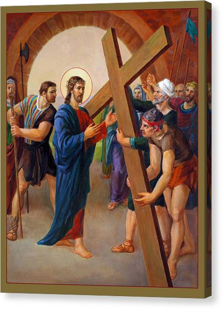Jerusalem Canvas Print - Via Dolorosa - Jesus Takes Up His Cross - 2 by Svitozar Nenyuk