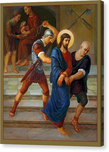 Bishops Canvas Print - Via Dolorosa - Stations Of The Cross - 1 by Svitozar Nenyuk
