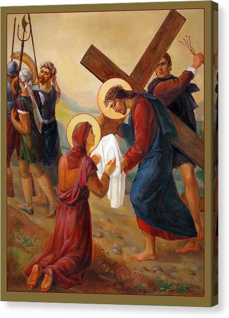 Mission Canvas Print - Via Dolorosa - Veil Of Saint Veronica - 6 by Svitozar Nenyuk
