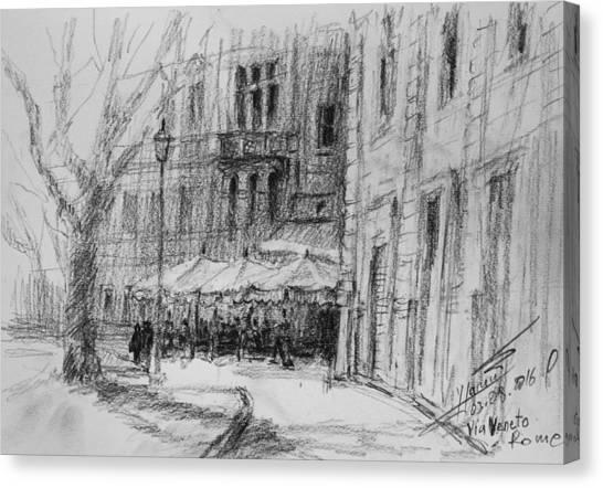 Rome Canvas Print - Via Veneto, Rome by Ylli Haruni