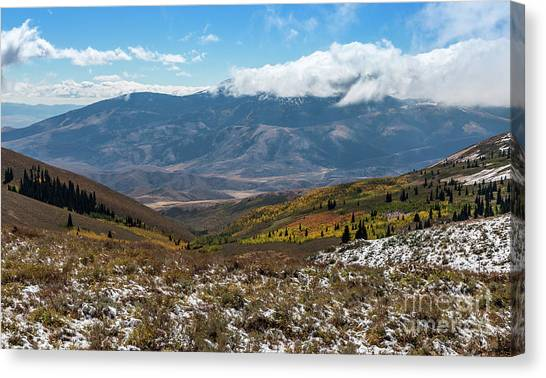 Vibrance Of The Storm Idaho Landscape Art By Kaylyn Franks Canvas Print