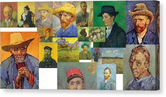 Canvas Print featuring the painting Vibrance Of Van Gogh Mural IIl by David Bridburg