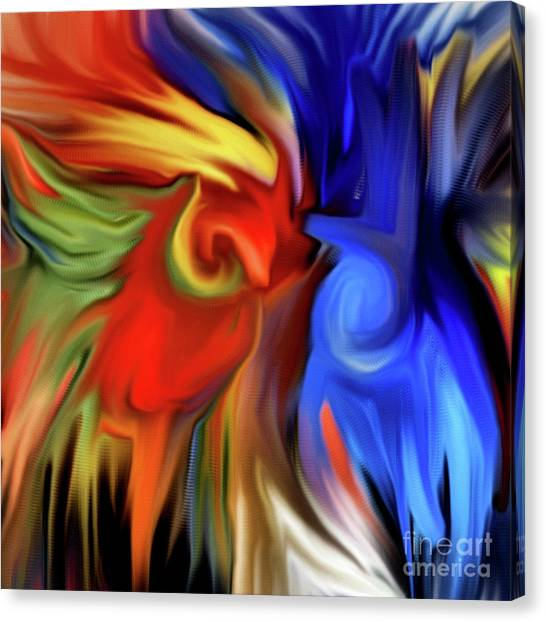 Vibrant Abstract Color Strokes Canvas Print