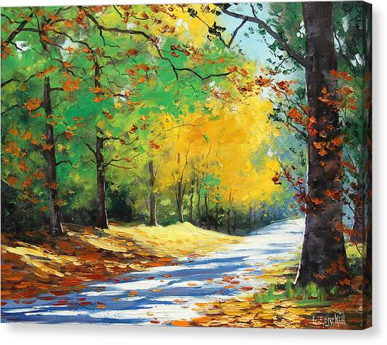 Elm Canvas Print - Vibrant Autumn by Graham Gercken