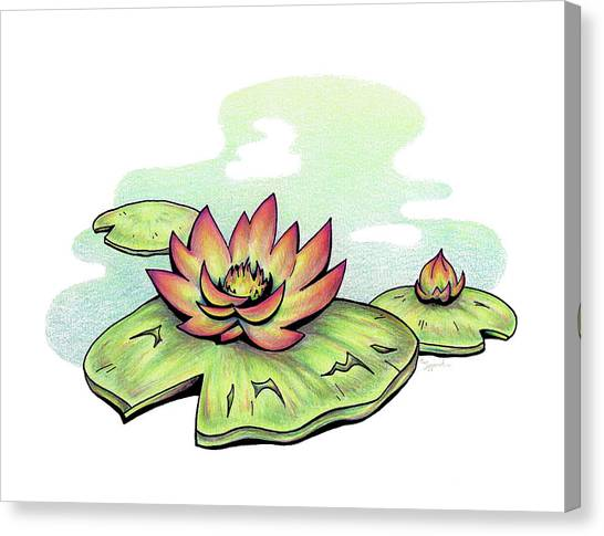 Vibrant Flower 2 Water Lily Canvas Print