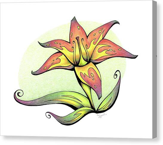 Vibrant Flower 4 Tiger Lily Canvas Print