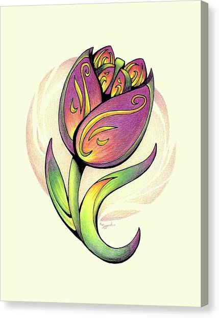 Vibrant Flower 5 Tulip Canvas Print