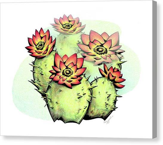 Vibrant Flower 6 Cactus Canvas Print
