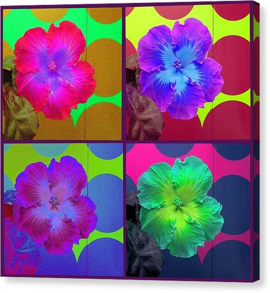 Vibrant Flower Series 2 Canvas Print by Jen White