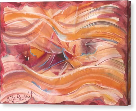 Vibrant Silk Canvas Print
