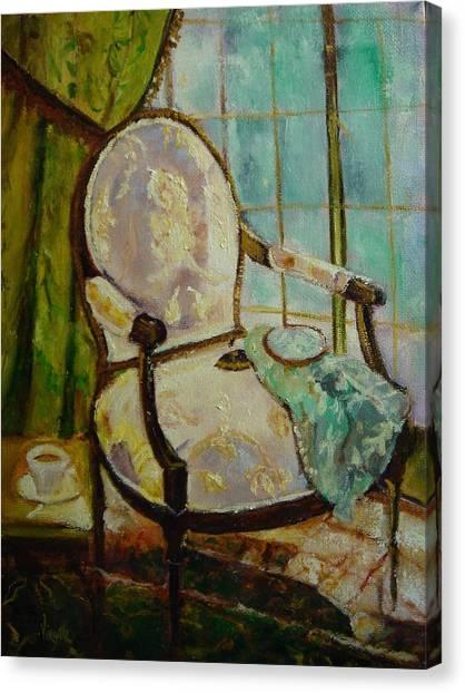 Vibrant Still Life Paintings - Afternoon Repose - Virgilla Art Canvas Print by Virgilla Lammons