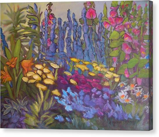 Vic Park Garden Canvas Print by Carol Hama Chang