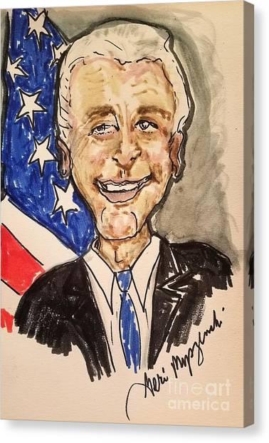 Joe Biden Canvas Print - Vice President Joe Biden by Geraldine Myszenski