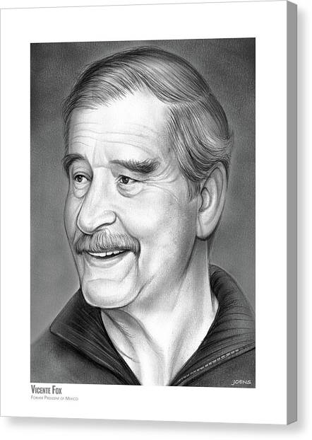 Mexican Canvas Print - Vicente Fox by Greg Joens