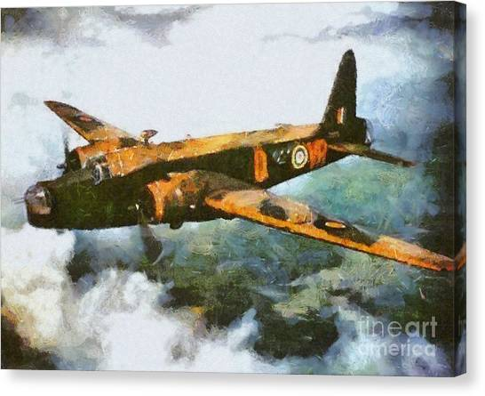 Hurricanes Canvas Print - Vickers Wellington Bomber, Wwii by Mary Bassett
