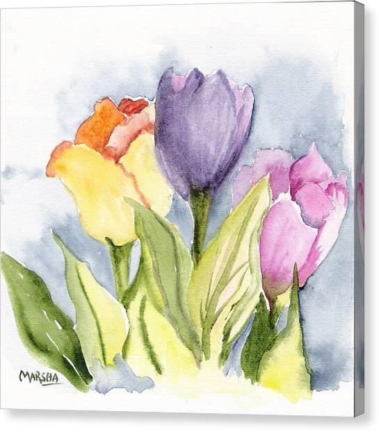 Vickis Tulip Canvas Print