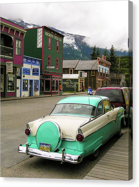 Vicky In Skagway Canvas Print