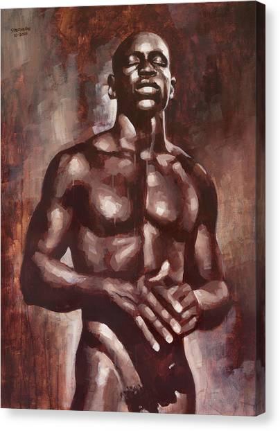 Male Nudes Canvas Print - Victor Dreams by Douglas Simonson