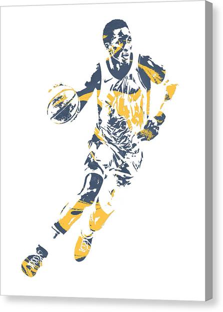 Indiana Pacers Canvas Print - Victor Oladipo Indiana Pacers Pixel Art 30 by Joe Hamilton