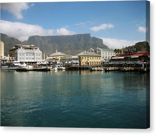 Cape Town Canvas Print - Victoria And Alfred Waterfront by Oliver Johnston