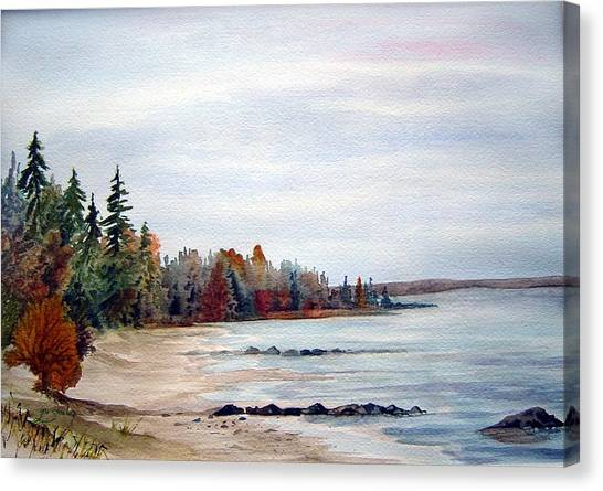 Victoria Beach In Manitoba Canvas Print