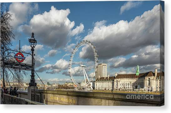 London Eye Canvas Print - Victoria Embankment by Adrian Evans