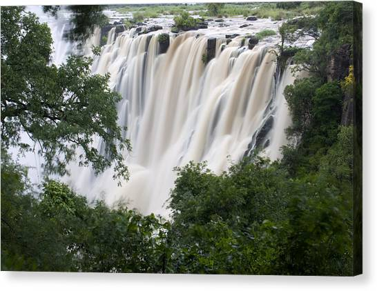Victoria Falls Canvas Print - Victoria Falls Waterfall Framed by Roy Toft