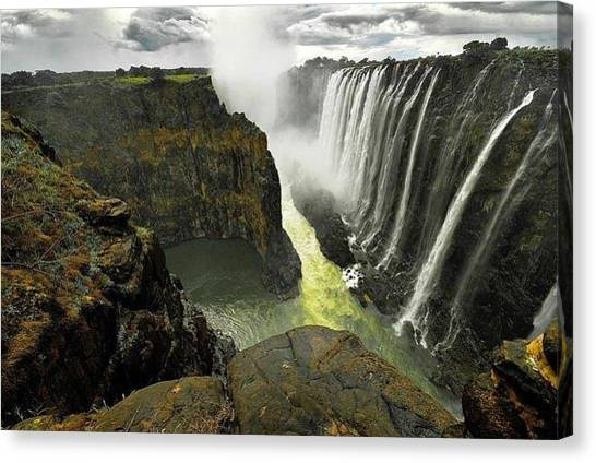 Star Wars Canvas Print - Victoria Falls Zambia And Zimbabwe  by Andy Bucaille