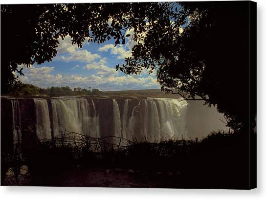 Travelpics Canvas Print - Victoria Falls, Zimbabwe by Travel Pics