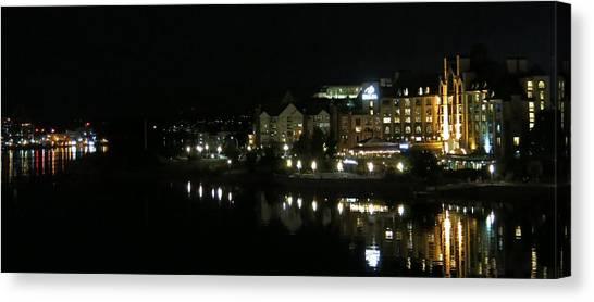 Victoria Harbor Night View Canvas Print